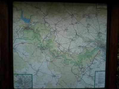 U Milíře mapa rozcestí